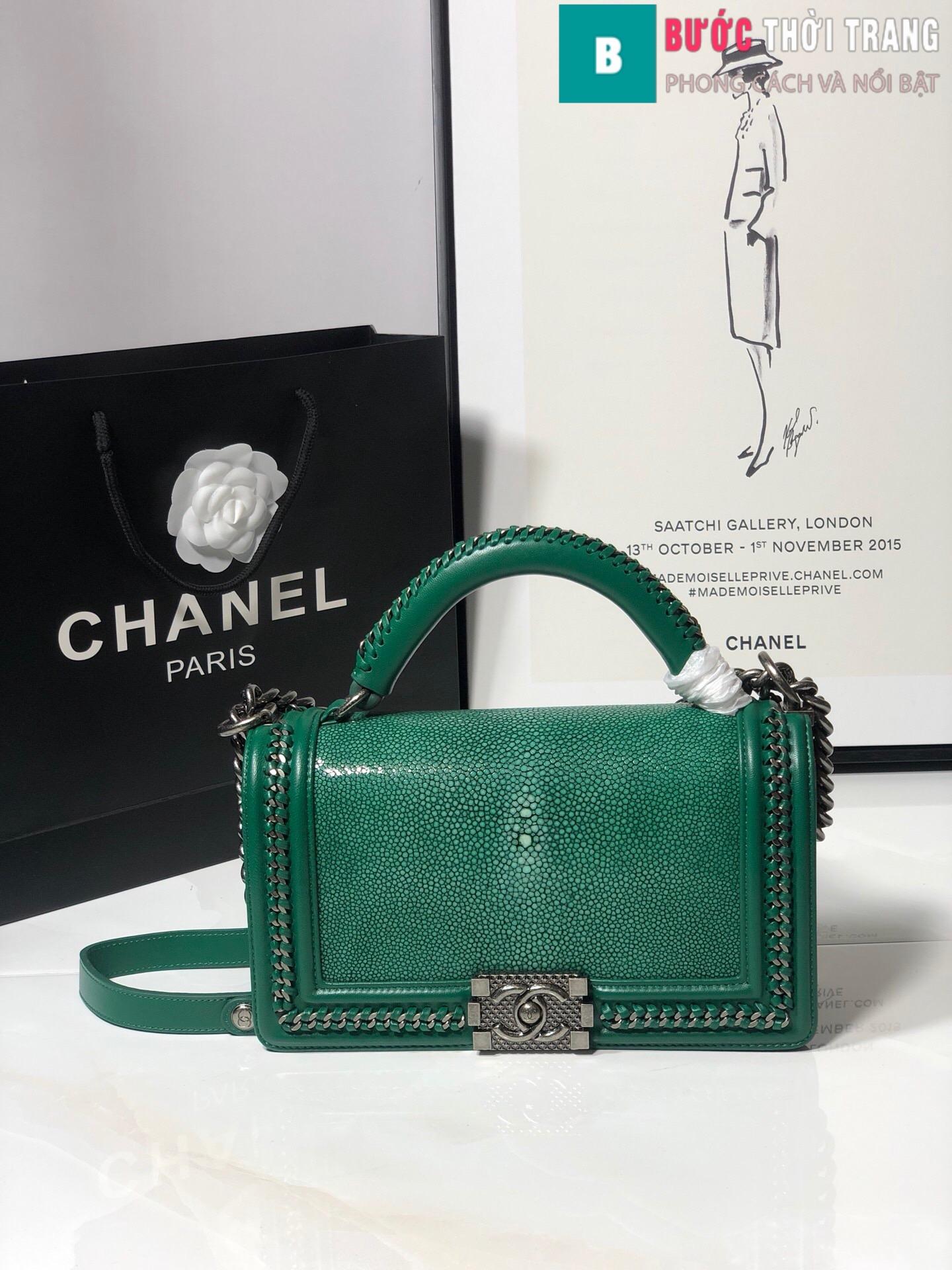 Túi xách Chanel boy siêu cấp da cá đuối (81)