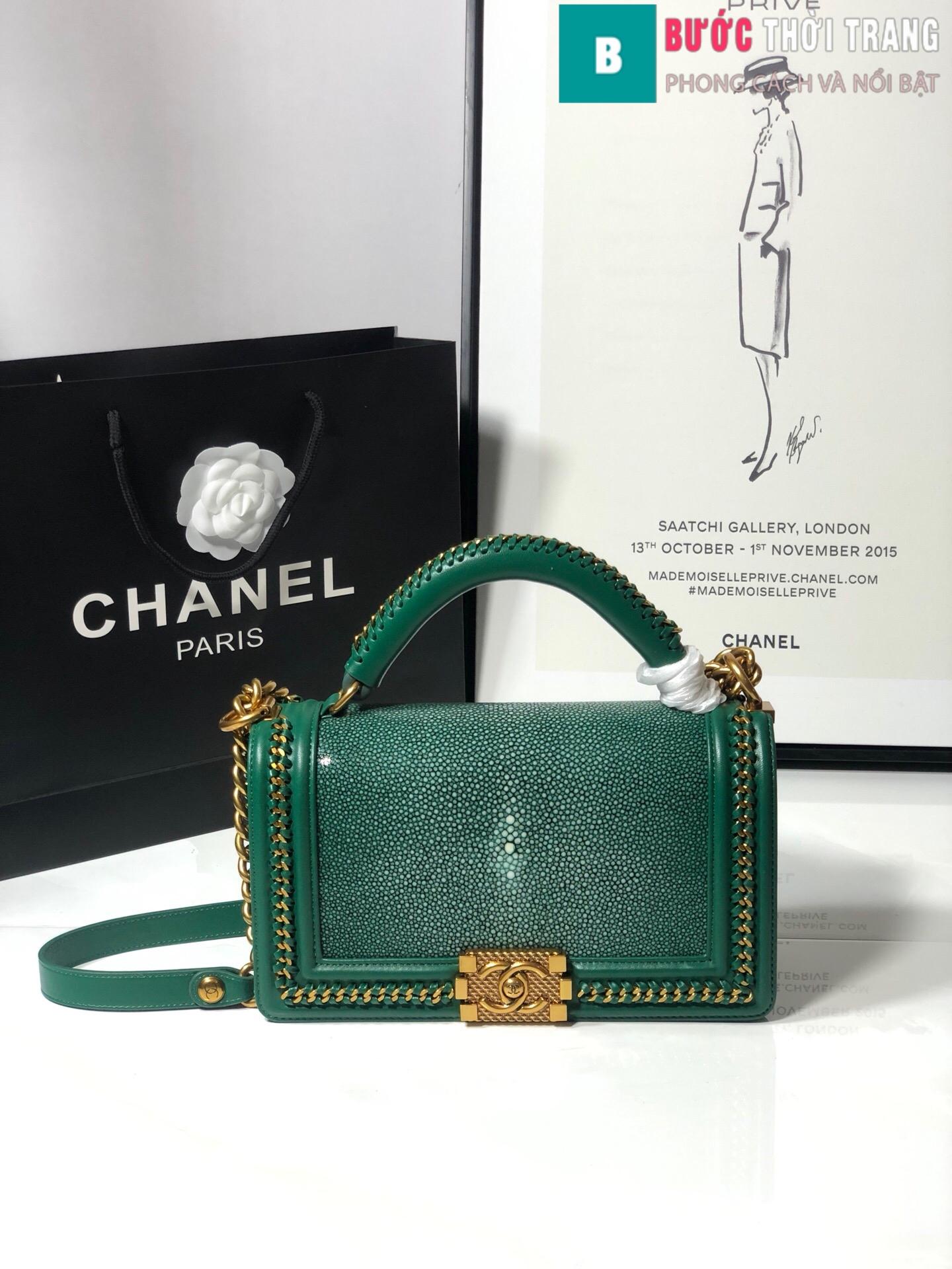 Túi xách Chanel boy siêu cấp da cá đuối (90)