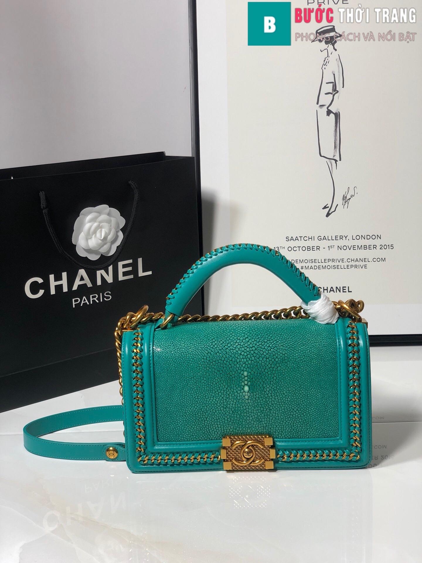 Túi xách Chanel boy siêu cấp da cá đuối (99)