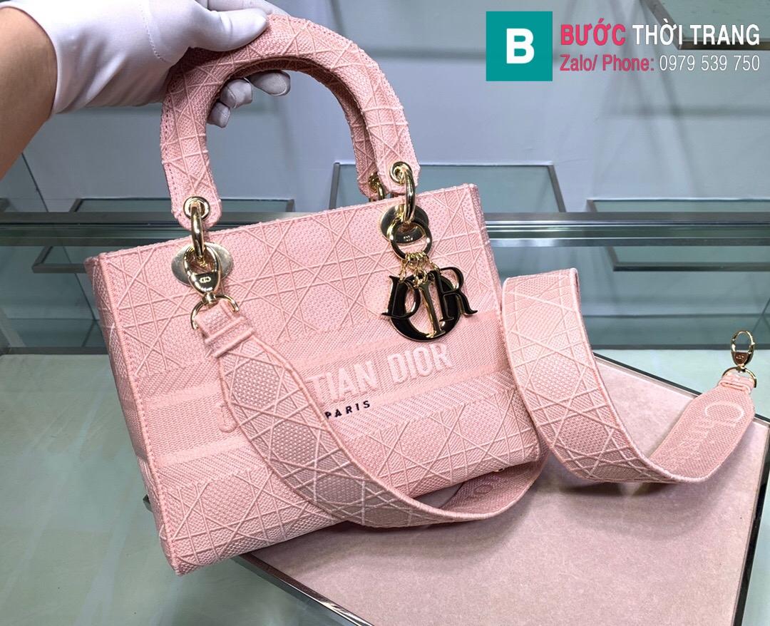 Túi xách Dior lady vải siêu cấp (10)