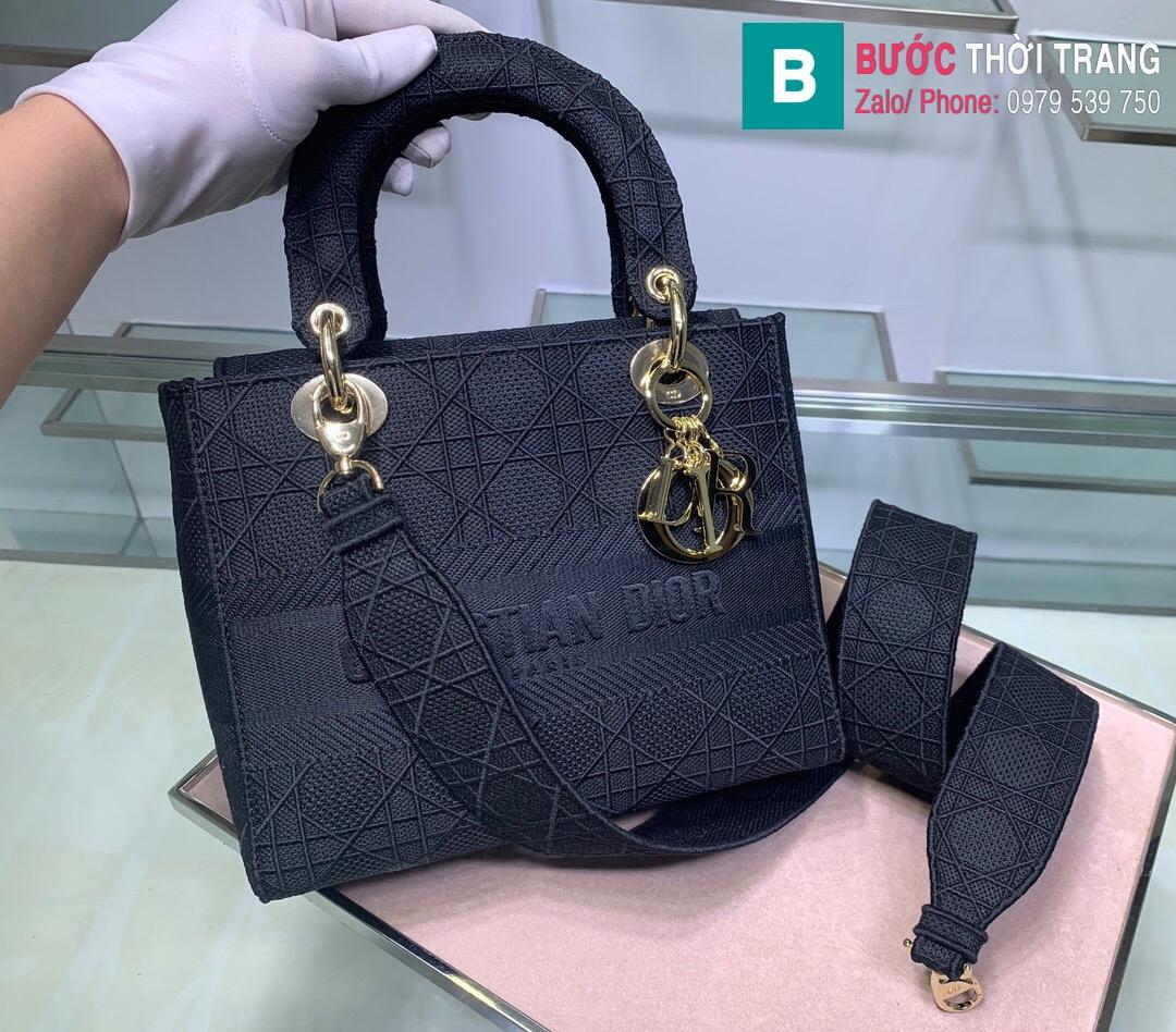 Túi xách Dior lady vải siêu cấp (28)