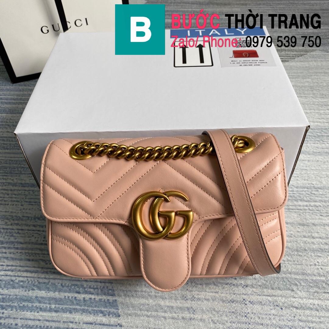 Túi xách Gucci Marmont matelaseé mini bag (28)