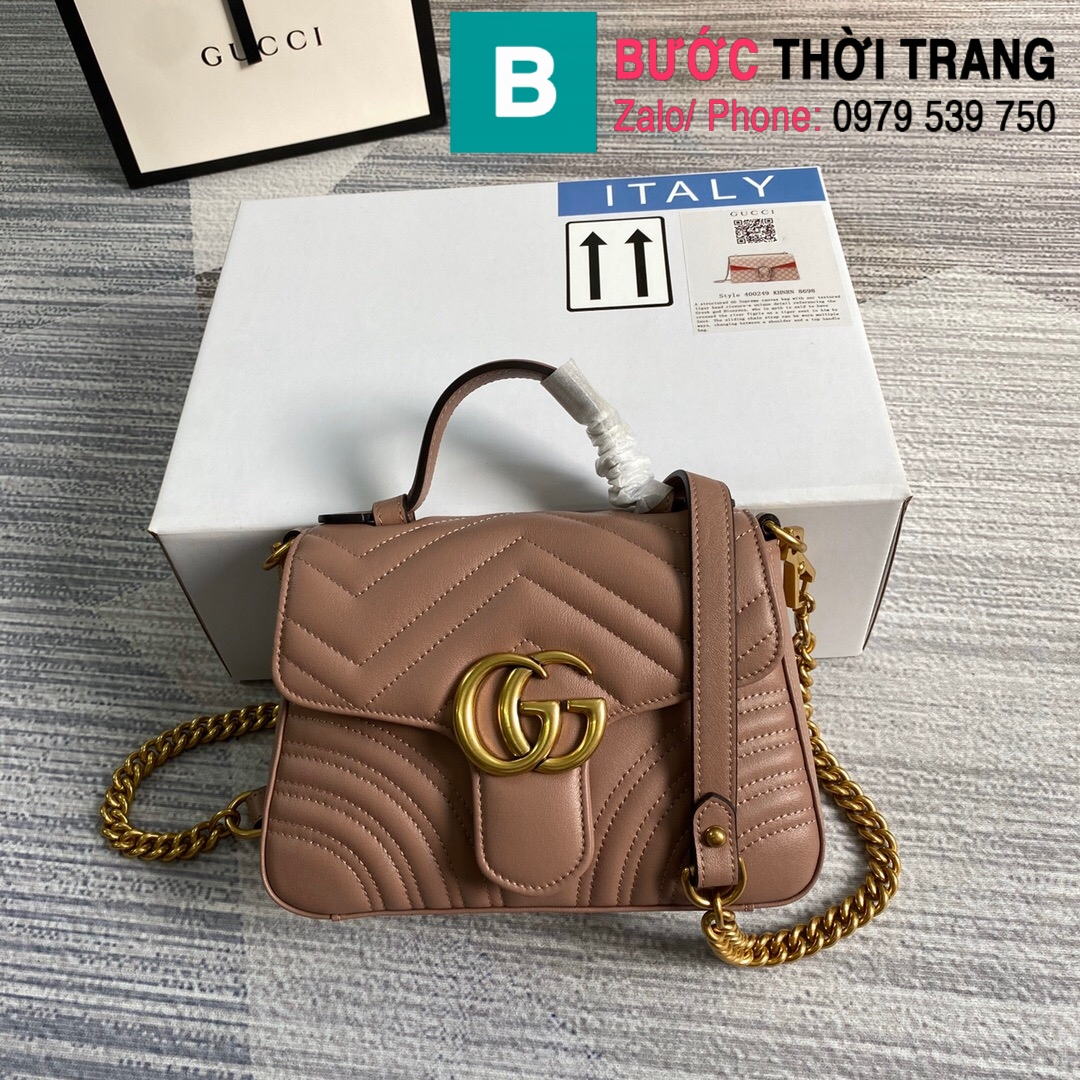 Túi xách Gucci Marmont mini top handle (10)