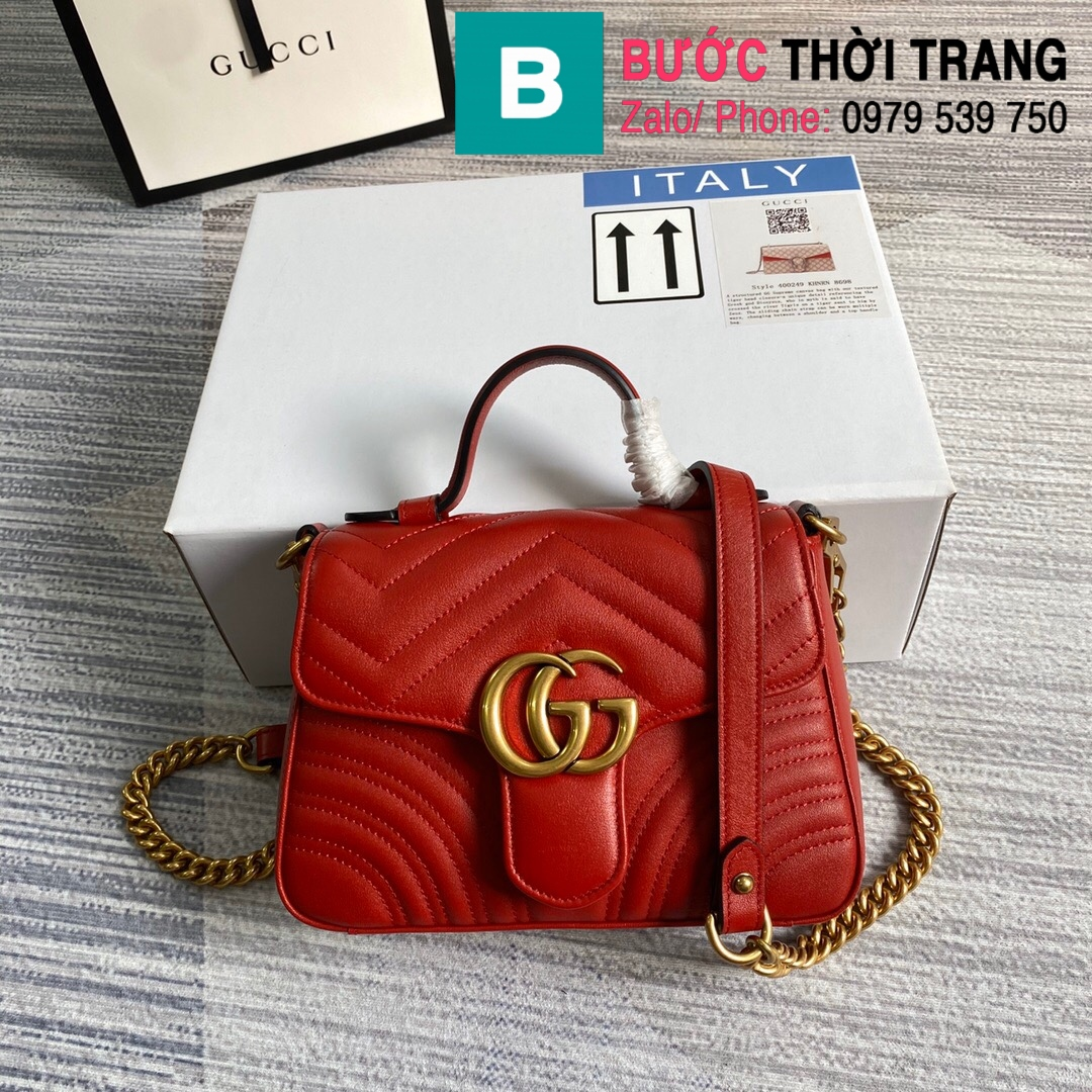 Túi xách Gucci Marmont mini top handle (19)