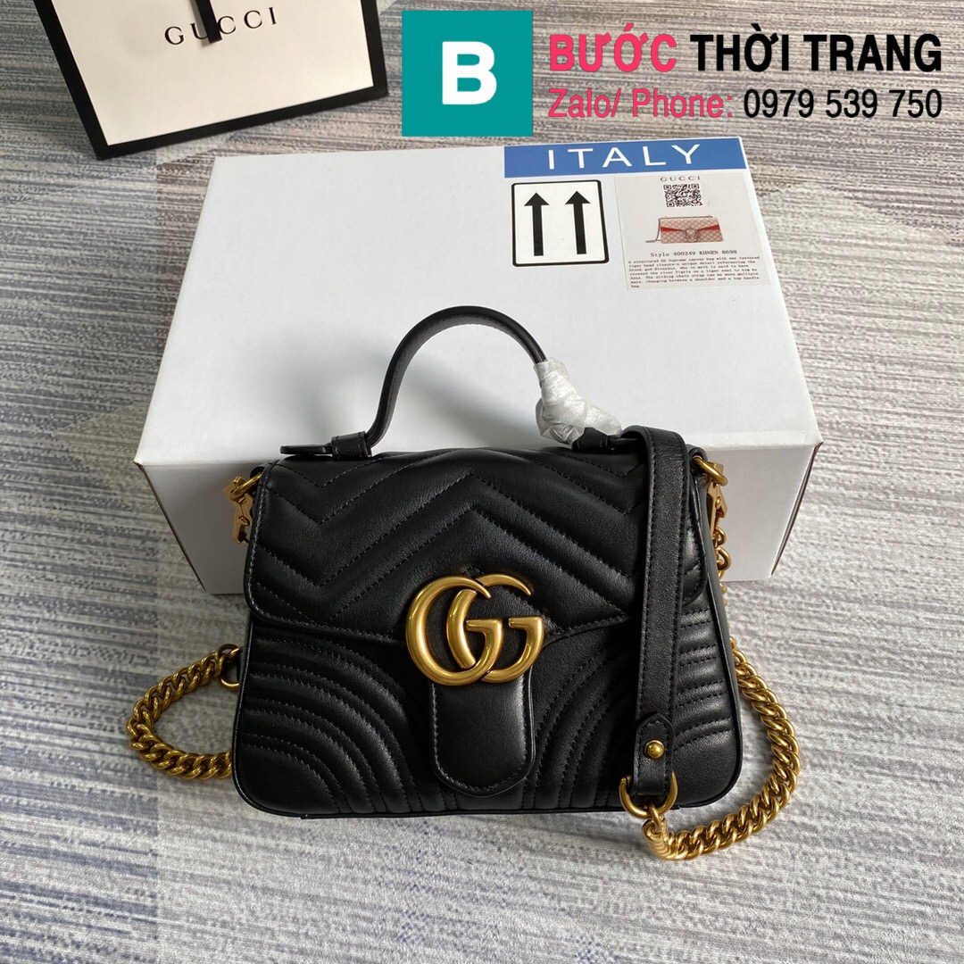 Túi xách Gucci Marmont mini top handle (28)