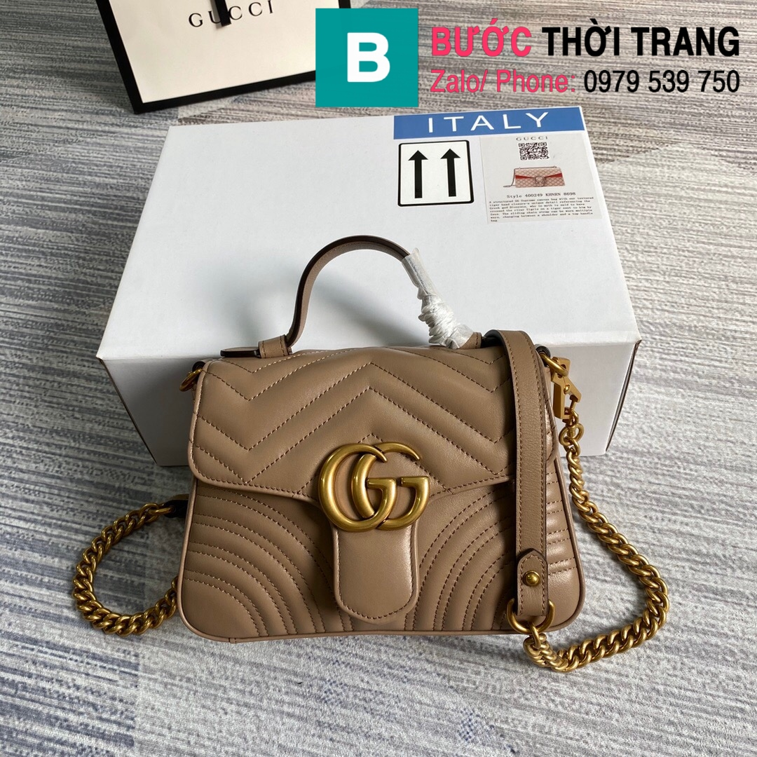 Túi xách Gucci Marmont mini top handle (37)