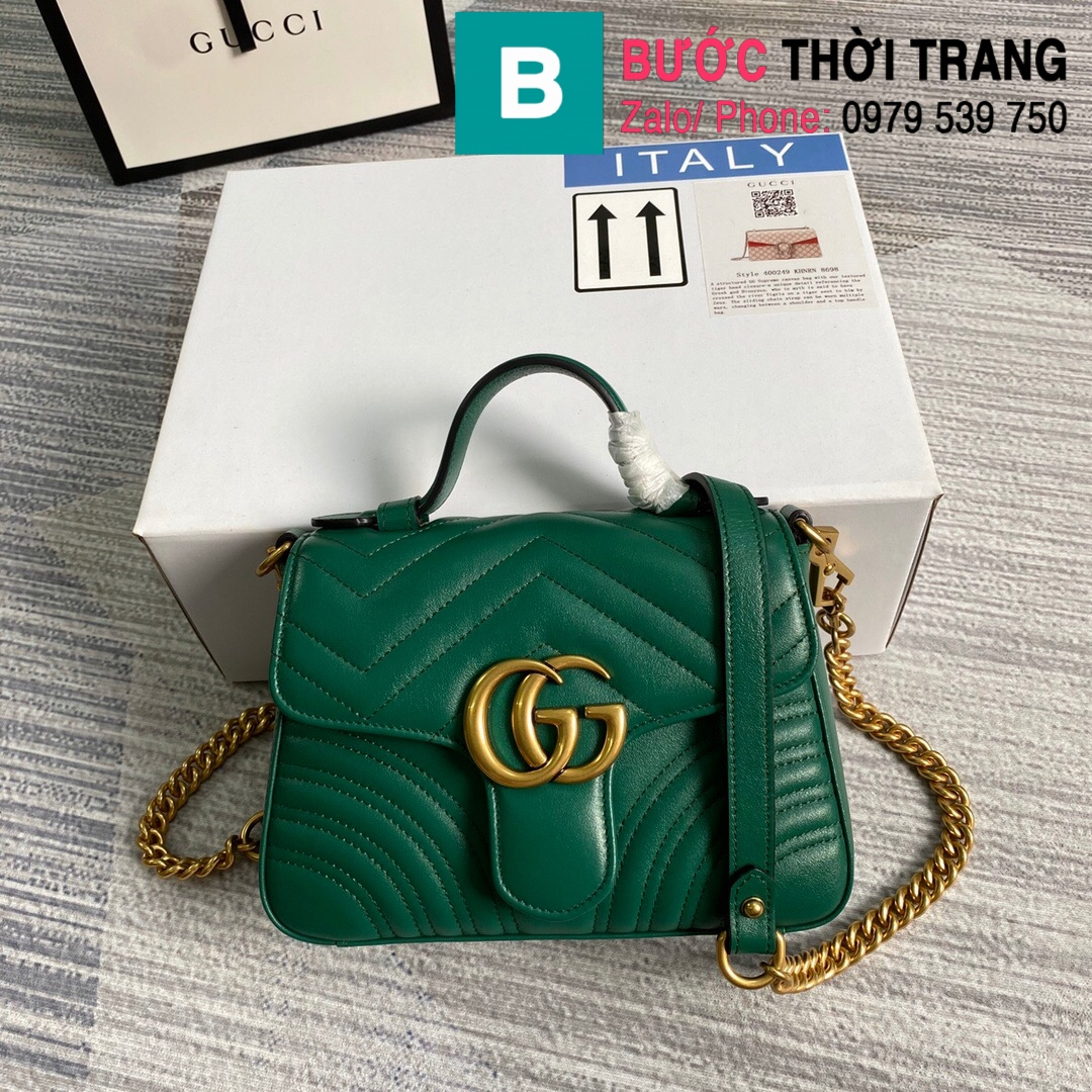 Túi xách Gucci Marmont mini top handle (46)