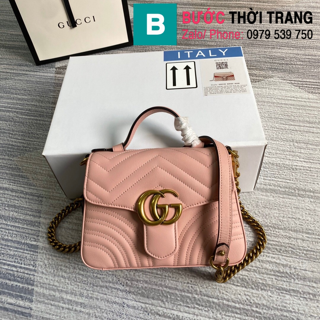 Túi xách Gucci Marmont mini top handle (55)