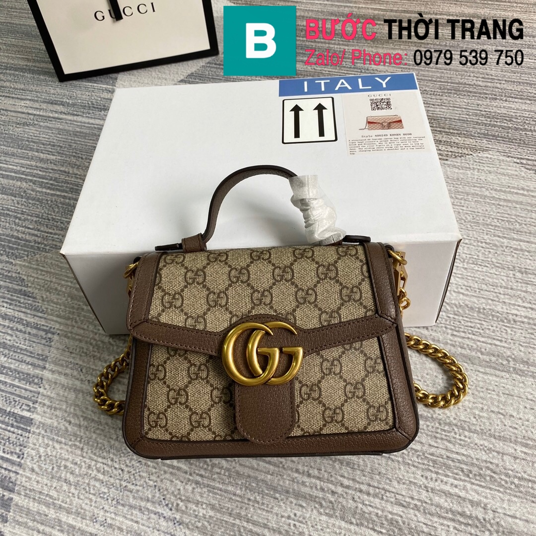 Túi xách Gucci Marmont mini top handle (64)