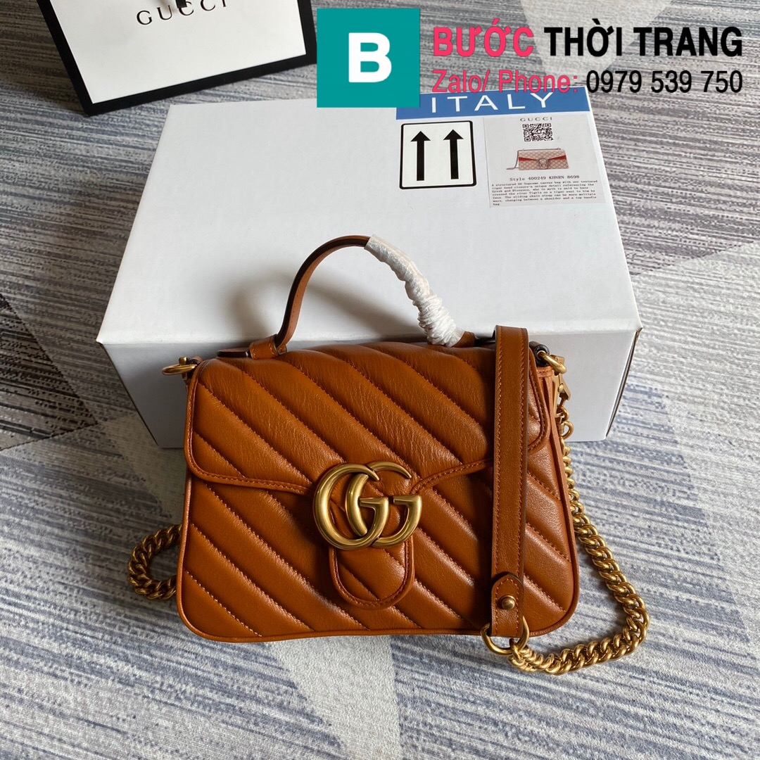 Túi xách Gucci Marmont mini top handle (73)