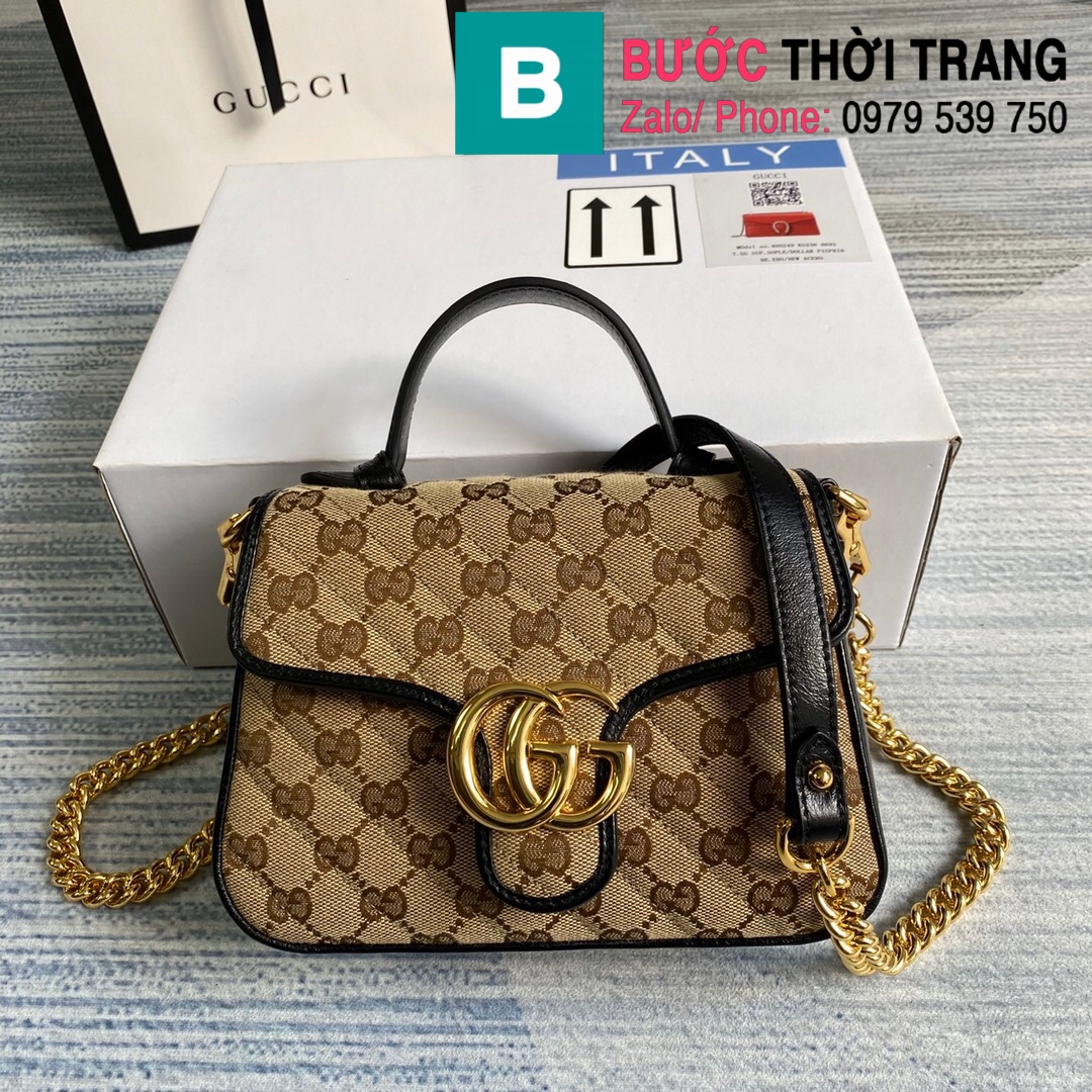 Túi xách Gucci Marmont mini top handle (82)