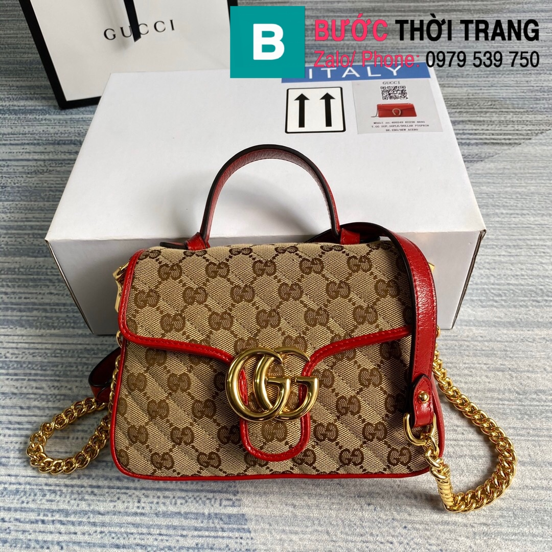 Túi xách Gucci Marmont mini top handle (91)