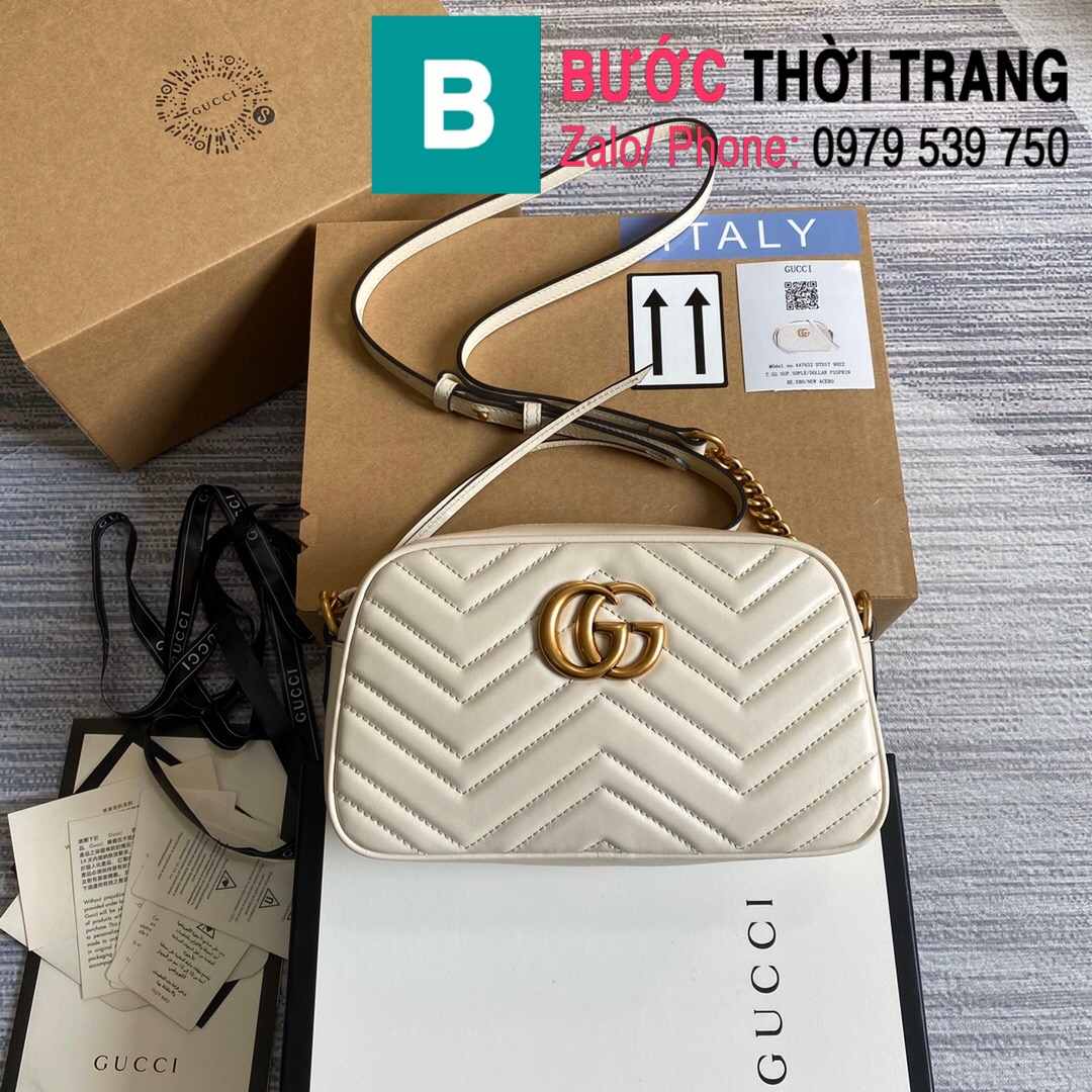 Túi xách Gucci Marmont small matelassé shoulder bag (19)