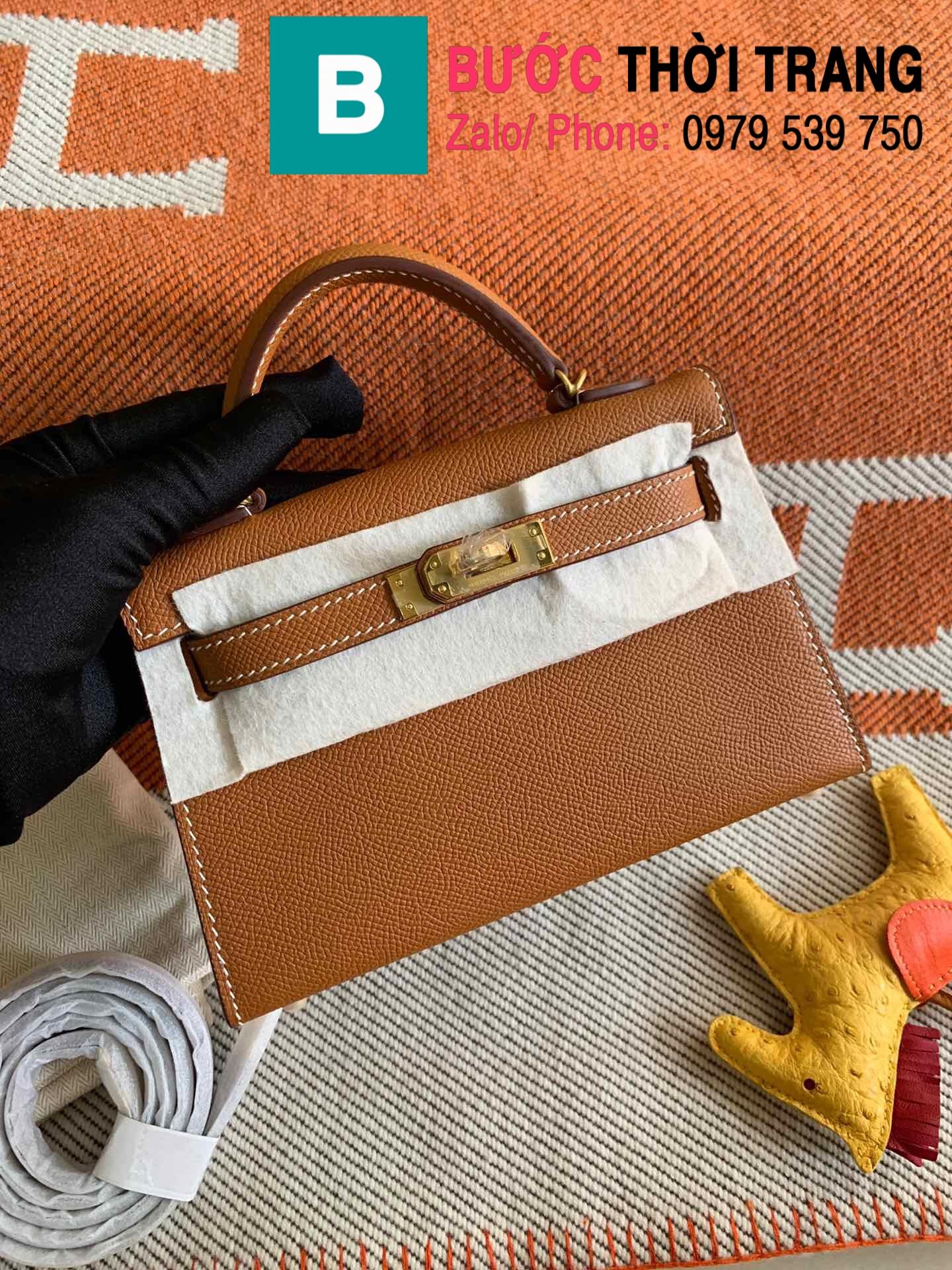 Túi xách Hermes Kelly mini epsom (118)