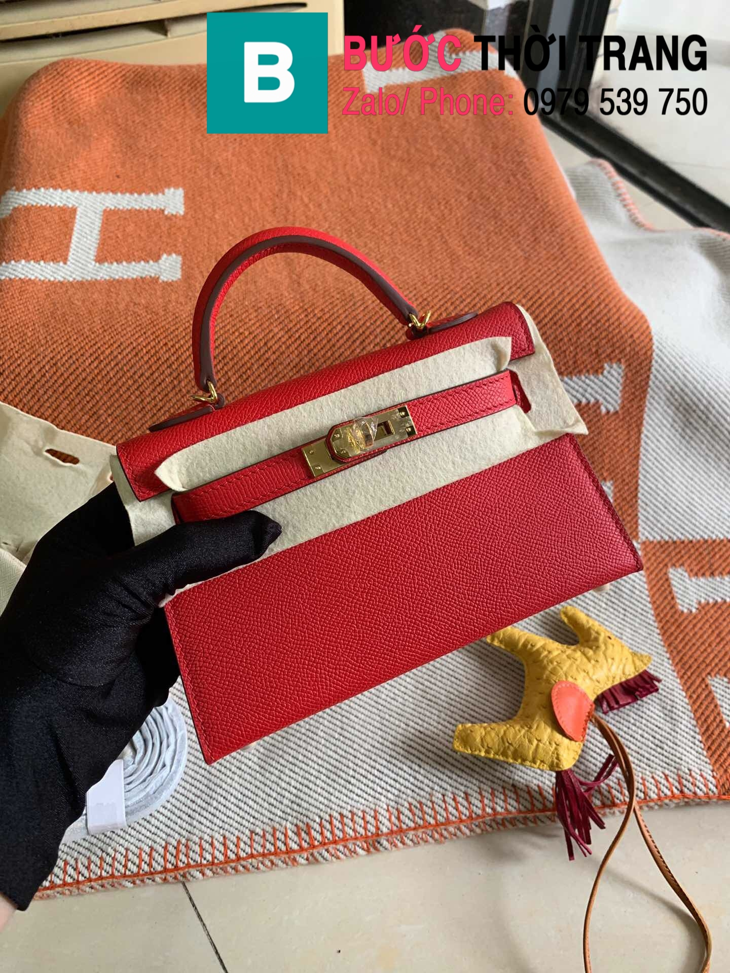 Túi xách Hermes Kelly mini epsom (46)