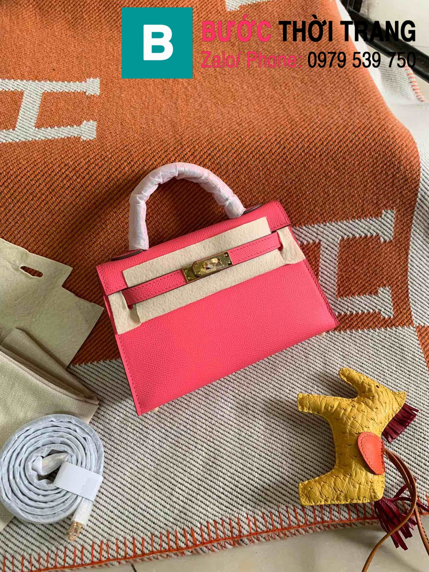 Túi xách Hermes Kelly mini epsom (73)