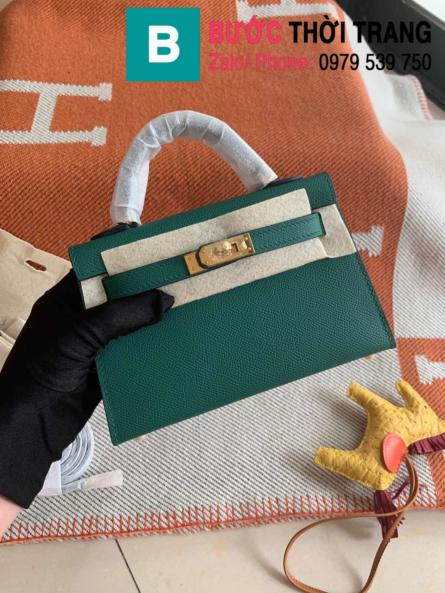 Túi xách Hermes Kelly mini epsom (91)