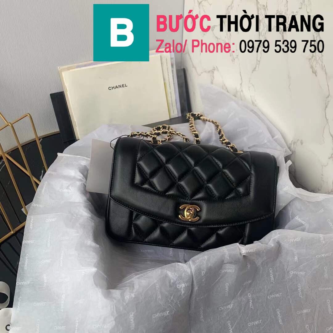 Túi đeo chéo Chanel siêu cấp mẫu mới da cừu màu đen size 23cm – AS1488