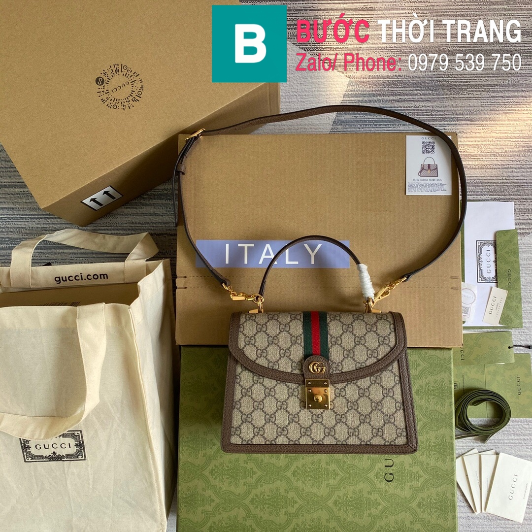 Túi xách Gucci Ophidia small top handle bag (17)